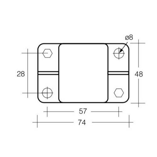 Narva 120 Amp High Amp Manual Resetting Circuit Breaker - Pack of 1