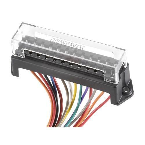 Narva 12-Way Standard ATS Blade Fuse or Plug-in Type Circuit Breaker Block