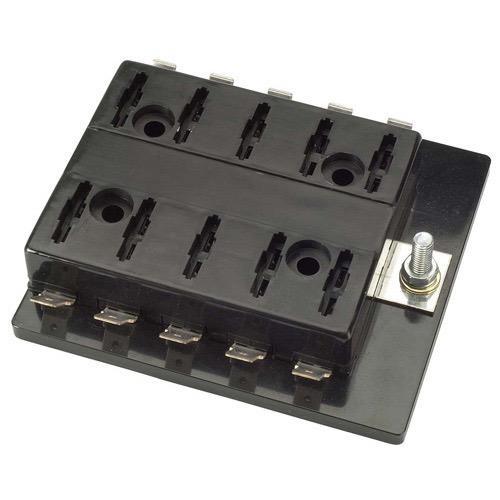 Narva 10-Way Standard ATS Blade Fuse or Plug-in Type Circuit Breaker Block