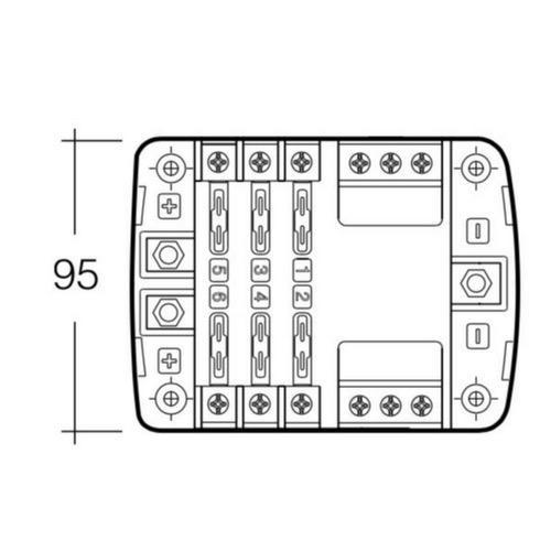 Narva 12-Way Standard ATS Blade Fuse or Plug-in Type Circuit Breaker Block - Pack of 1