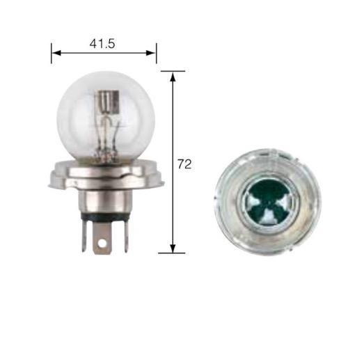 Narva 12V 45/40W P45t-41 Asymmetrical Headlamp Globe