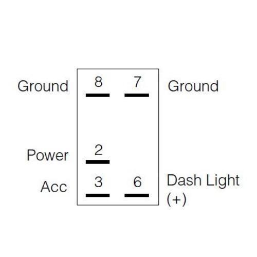 Narva 12/24V Off/On L.E.D Illuminated Sealed Rocker Switch - Red - w/ Winch Power Symbol