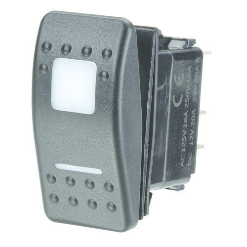 Narva 12/24V Off/On/On L.E.D Illuminated Sealed Rocker Switch - Red