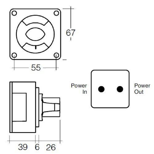 Narva Battery Master Switch, Rotary Style