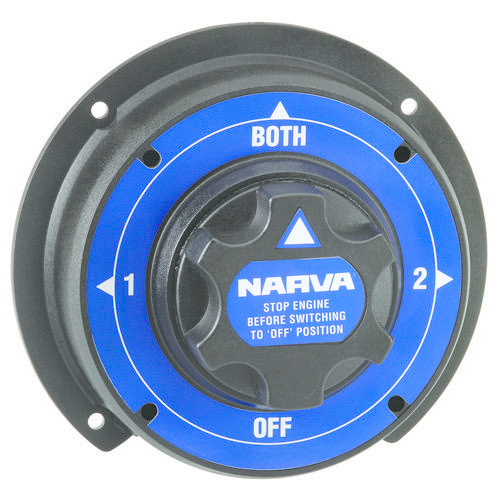 Narva Battery Master Switch, Rotary Style with 4 Positions - for Heavy-duty Automotive
