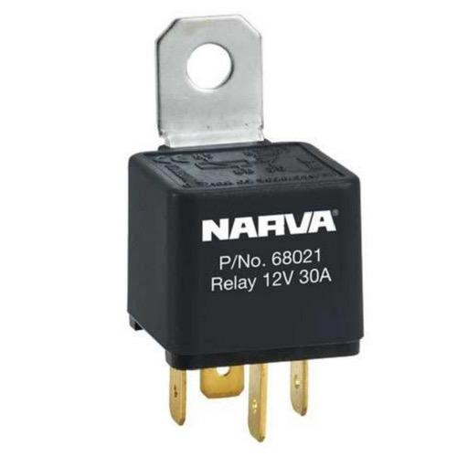 Narva 12V - 30A Normally Open 4 Pin - Reverse Pin Relay w/ Resistor Protection - Blister Pack