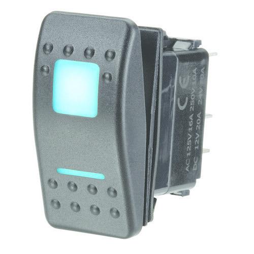 Narva 12/24V Off/On L.E.D Illuminated Sealed Rocker Switch - Blue