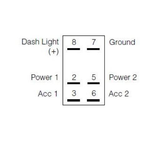 Narva 12/24V Off/On/On L.E.D Illuminated Sealed Rocker Switch - Blue