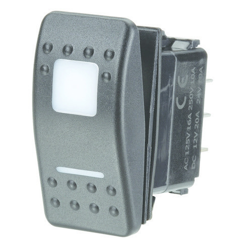 Narva 12/24V Momentary (On)/Off/Momentary (On) L.E.D Illuminated Sealed Rocker Switch - Red