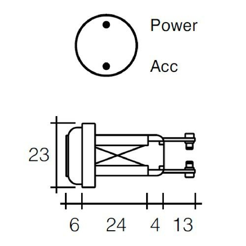 Narva Off/On Ignition Switch - 6A at 12V - 19mm Dia.