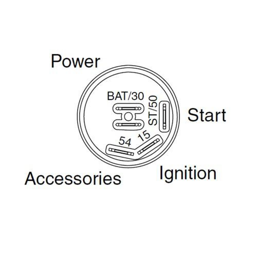 Narva 4 Position Ignition Switch - 25A Ignition