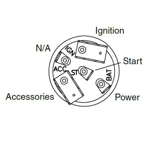 Narva 4 Position Ignition Switch Suits International Trucks - 10A Ignition