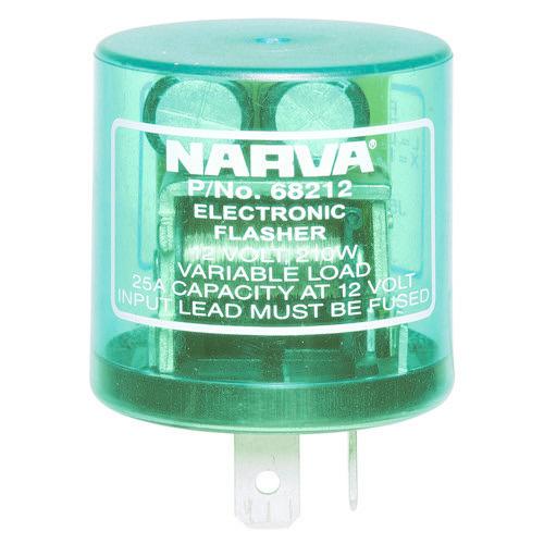 Narva 12 Volt 2 Pin Electronic Flasher - Max load: 10 x 21 watt globes