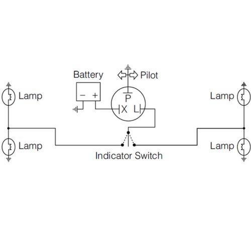 Narva 12 Volt 3 Pin Electronic Flasher - Max load: 10 x 21 watt globes
