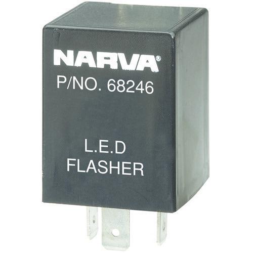 Narva 12 Volt 3 Pin L.E.D Flasher - Max load: 2 x 21 watt globes and 2 x 9 watt L.E.D lamps