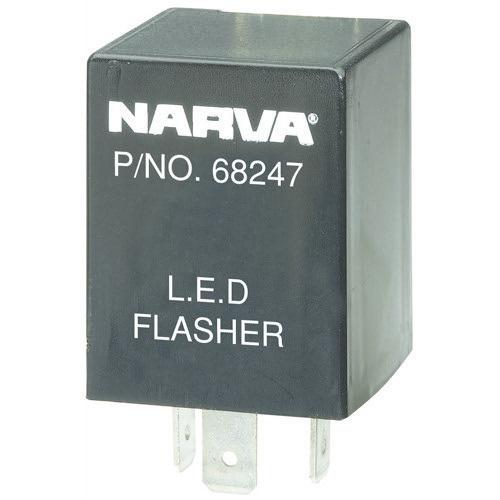 Narva 12 Volt 3 Pin L.E.D Flasher - Max load: 2 x 21 watt globes and 2 x 9 watt L.E.D lamps and 2 x 5 watt globes