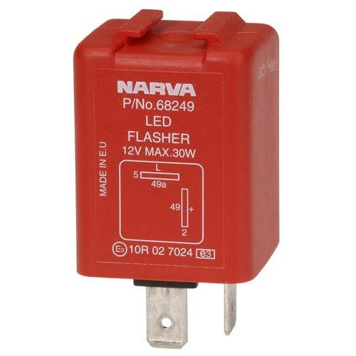 Narva 12 Volt 2 Pin Electronic L.E.D Flasher - Max of 2.5 amps per side (30 watts)
