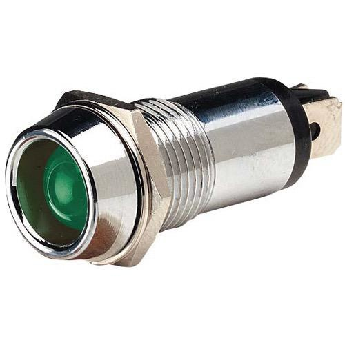 Narva 12V Chrome Pilot Lamp w/ L.E.D - 0.02A at 12V