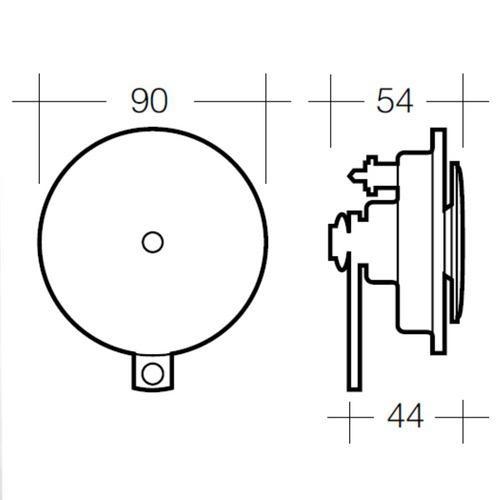 Narva 12 Volt High Tone Disc Horn - Blister Pack