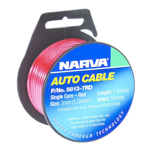 Narva 10A Single Core Cable - Dia: 3mm - Length: 7m