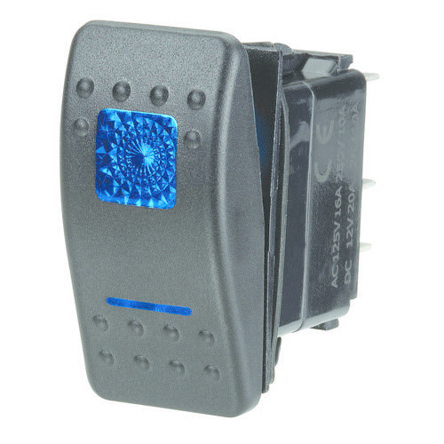 Narva 12 Volt Illuminated Off/On Sealed Rocker Switch - 20A at 12V only