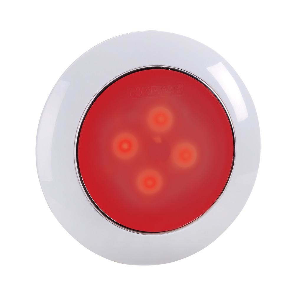Narva 12 Volt Saturn Dual Colour 75mm L.E.D Interior Lamp White/Red with Touch Switch (Blister Pack of 1)