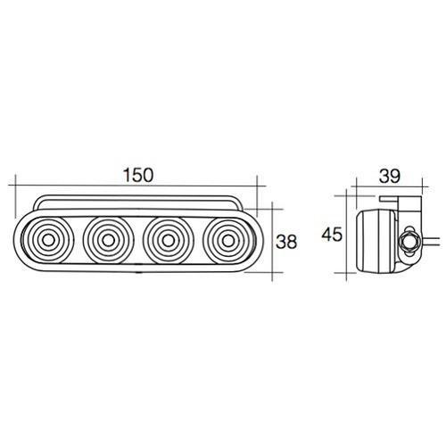 Narva 9-33V L.E.D Daytime Running Light Kit with Park Function and Adjustable Bracket