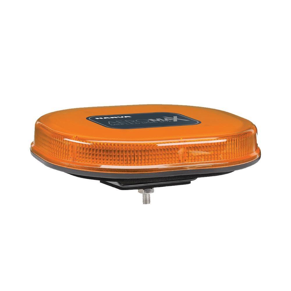 Narva 12/24V Aeromax Mini L.E.D Light Box (Amber) Single Bolt Mount