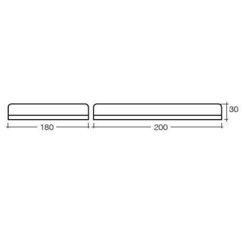 Narva 12/24V Aeromax Mini L.E.D Light Box (Amber) Single Bolt Mount w/ Clear Lens