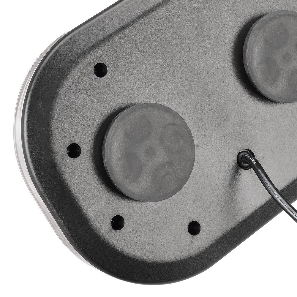Narva 12/24V Aeromax Mini L.E.D Light Box (Amber) Magnetic Base w/ Clear Lens