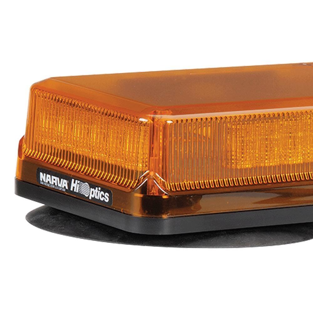 Narva 12/24V Hi Optics, High Powered L.E.D Light Box (Amber) Magnetic Base w/ Amber Lens
