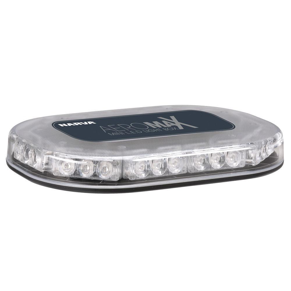 Narva 12/24V Aeromax Mini L.E.D Light Box (Amber) Flange Base w/ Clear Lens