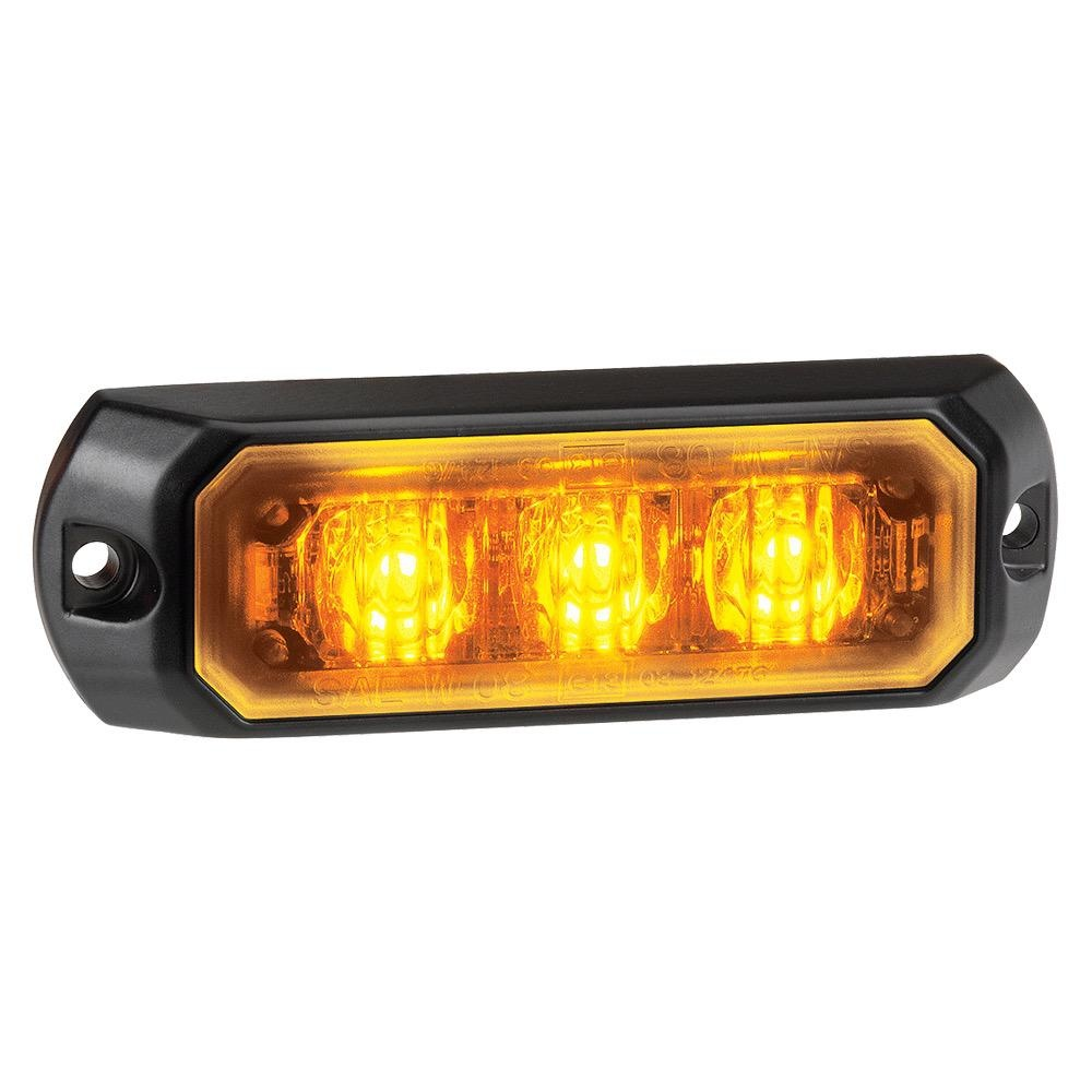 Narva 12/24V Low Profile High Powered L.E.D Warning Light 3 x 1W L.E.Ds w/ Multiple Flash Patterns