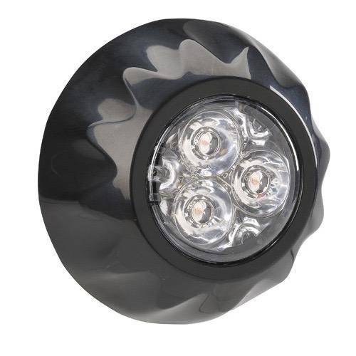 Narva 12/24V High Powered L.E.D Warning Light - 3 x 1 Watt L.E.Ds w/ Multiple Flash Patterns