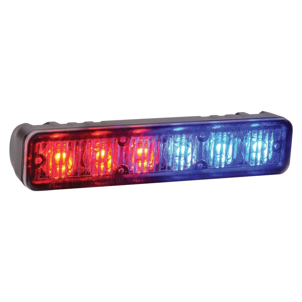 Narva 12/24V High Powered L.E.D Warning Light 6 x 1W L.E.Ds w/ Multiple Flash Patterns (Bonnet Mount)