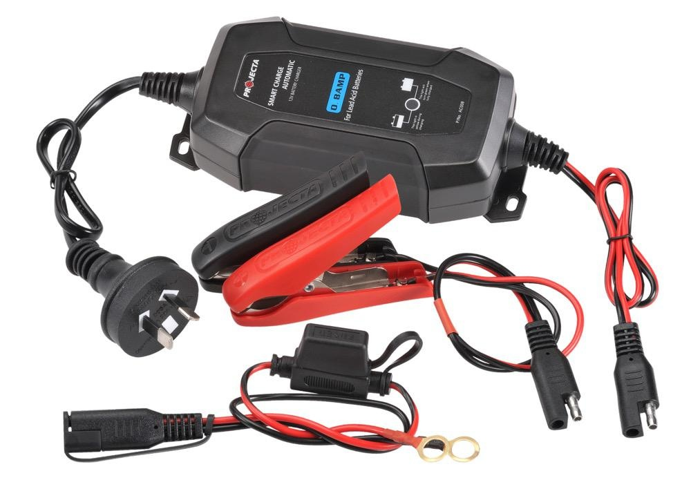 Projecta 12V Automatic 0.8 Amp - 4 Stage Battery Charger