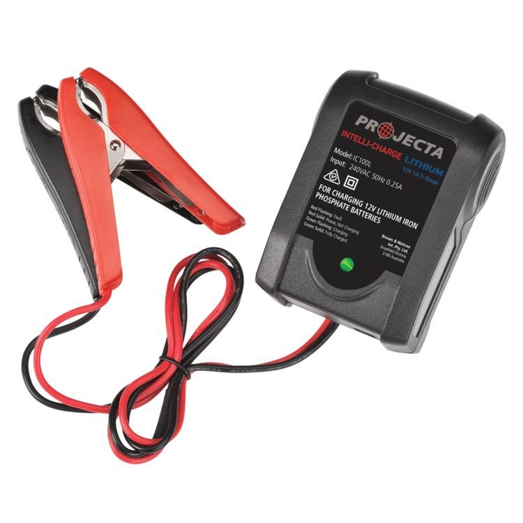 Projecta 12V Automatic 1 Amp 5 Stage Lithium Battery Charger