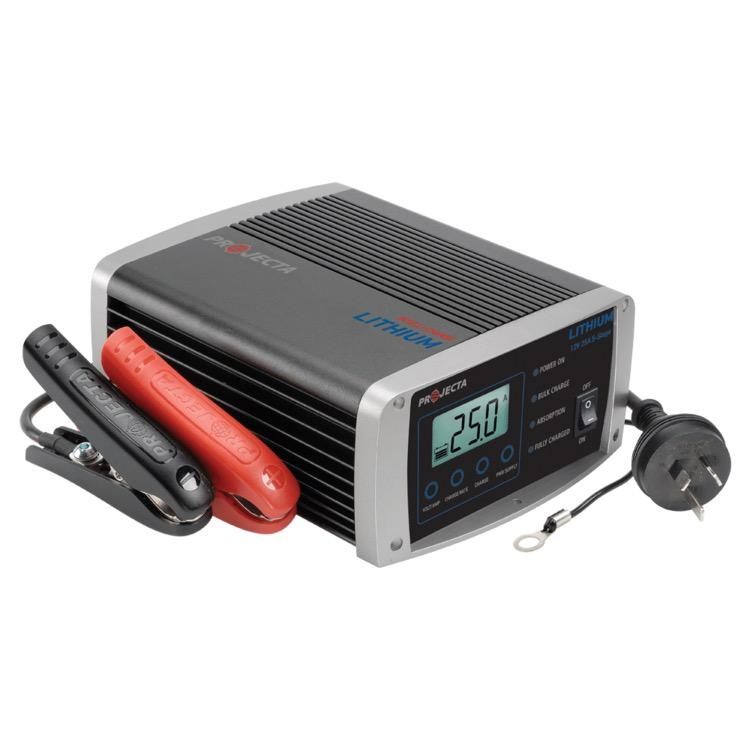 Projecta 12V Automatic 25 Amp 5 Stage Lithium Battery Charger