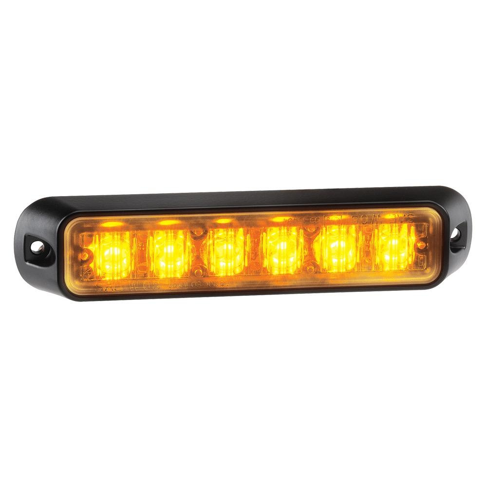 Narva 12/24V Low Profile High Powered L.E.D Warning Light 6 x 1W L.E.Ds w/ Multiple Flash Patterns