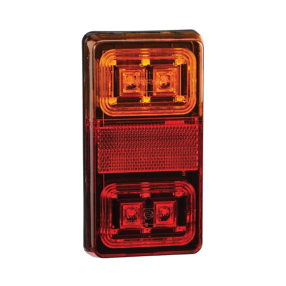 Narva 12V Model 35 L.E.D Slimline Rear Stop/Tail, Direction Indicator Lamp (Rectangular) w/ In-Built Retro Reflector