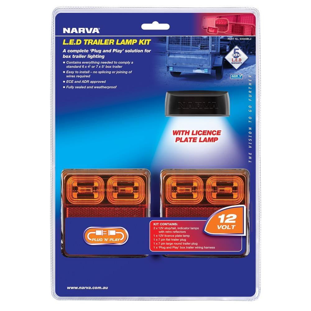 Narva 12V Model 35 L.E.D Plug and Play Trailer Lamp Kit (Square Lamps)