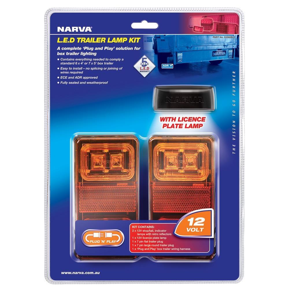Narva 12V Model 35 L.E.D Plug and Play Trailer Lamp Kit (Rectangular Lamps)