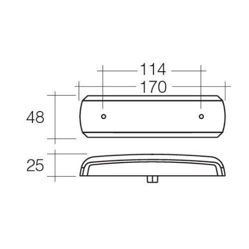 Narva 10-30V Model 38 L.E.D Slimline Rear Stop/Tail and Direction Indicator Lamp Pack (Red/Amber) - Blister Pack