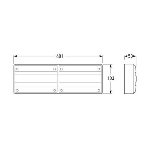 Hella Designline LED Double Module Stop/Rear Position/Rear Direction Indicator Lamp