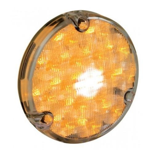 Hella 110mm Round LED Front Position/Front Direction Indicator Lamp - Clear Lens