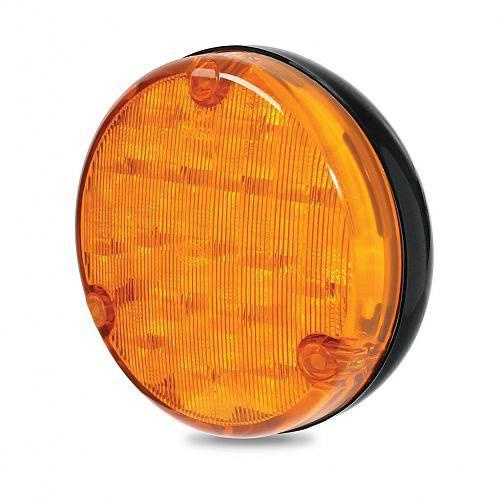 Hella 110mm Round LED Front Direction Indicator Lamp - Amber Lens