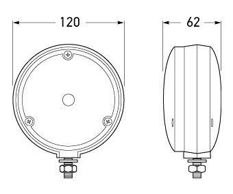 Hella LED Front Direction Indicator Lamp (Cat.1)