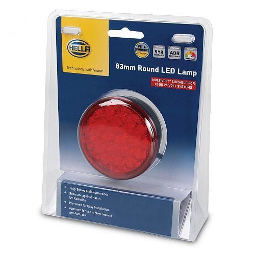 Hella 83mm Round LED Stop/Rear Position Lamp