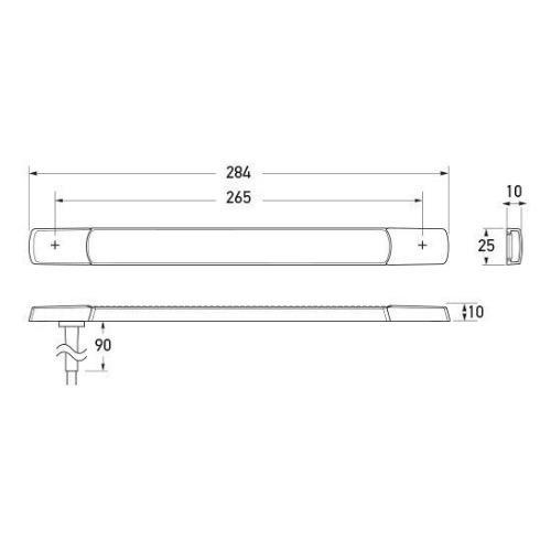 Hella LED Rear Direction Indicator Lamp - Surface Mount
