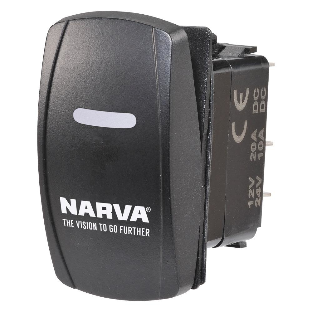 Narva 12/24V Off/On L.E.D Illuminated Sealed Rocker Switch (Blue)